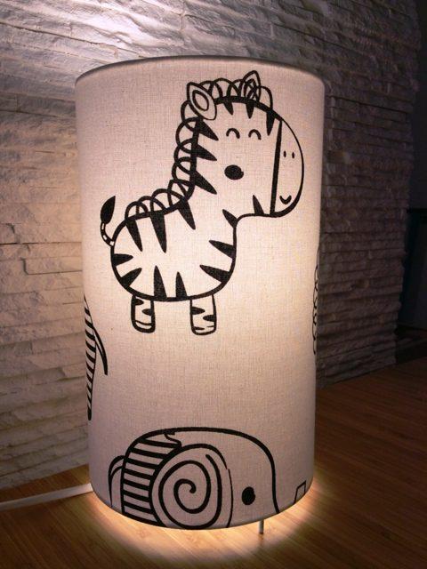 lampe enfant zebre